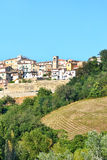 Vue panoramique de pays de colline Photo stock