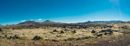 Vue panoramique de paysage islandais Photos stock