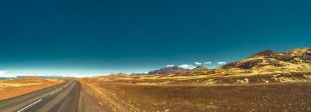 Vue panoramique de paysage islandais Photographie stock libre de droits