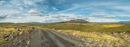 Vue panoramique de paysage islandais Images stock