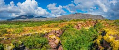 Vue panoramique de paysage islandais Photo stock