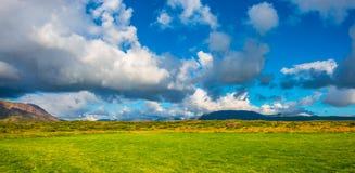 Vue panoramique de paysage islandais Photos libres de droits