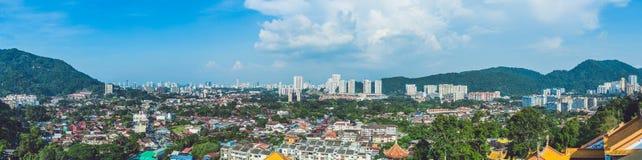 Vue panoramique de Penang, Georgetown en Malaisie photos libres de droits