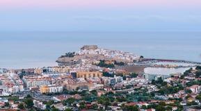 Vue panoramique de Peniscola (Espagne) Image stock