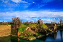 Vue panoramique de Peschiera del Garda Photo stock