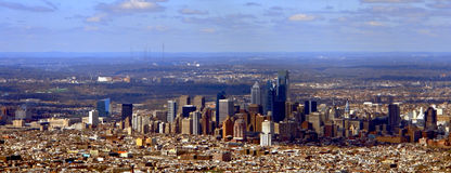 Vue panoramique de Philadelphie Pennsylvanie Photo stock