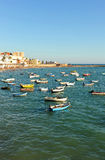 Vue panoramique de plage de Caleta de La, Costa de la Luz, Cadix, Andalousie, Espagne Photographie stock libre de droits