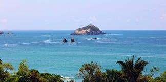 Vue panoramique de plage de parc national de Manuel Antonio en Costa Rica, la plupart des belles plages dans le monde Image libre de droits