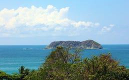 Vue panoramique de plage de parc national de Manuel Antonio en Costa Rica, la plupart des belles plages dans le monde photo libre de droits