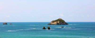 Vue panoramique de plage de parc national de Manuel Antonio en Costa Rica, la plupart des belles plages dans le monde Photo stock