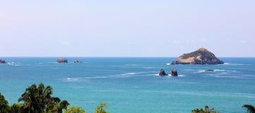 Vue panoramique de plage de parc national de Manuel Antonio en Costa Rica, la plupart des belles plages dans le monde Photographie stock libre de droits