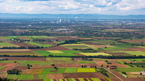 Vue panoramique de plaine du Rhin Supérieur image stock