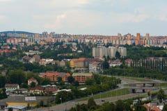 Vue panoramique de Plzen, République Tchèque Images stock