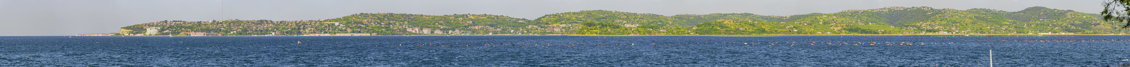 Vue panoramique de Portoroz Images libres de droits