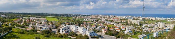 Vue panoramique de Protaras, Chypre Photographie stock libre de droits