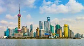 Vue panoramique de Pudong photos stock