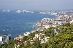 Vue panoramique de Puerto Vallarta photographie stock