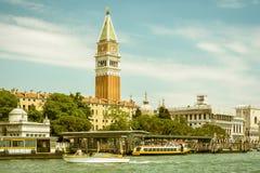Vue panoramique de remblai de San Marco à Venise photographie stock