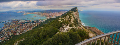 Vue panoramique de rocher de Gibraltar Photo libre de droits