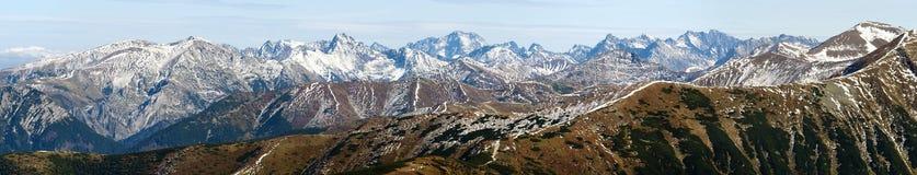 Vue panoramique de Rohace, montagnes occidentales de Tatra Images stock