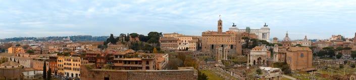 Vue panoramique de Rome Images libres de droits