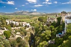 Vue panoramique de Ronda, Andalousie, Espagne Photo stock