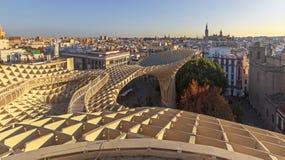 Vue panoramique de Séville du parasol de Metropol photographie stock libre de droits