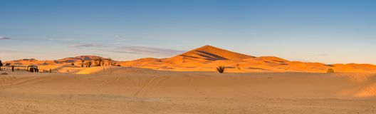 Vue panoramique de Sahara Desert Photos stock