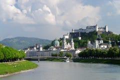 Vue panoramique de Salzbourg Images libres de droits