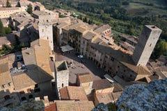 Vue panoramique de San Gimignano Photo libre de droits