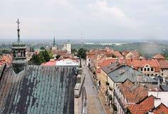 Vue panoramique de Sandomierz, Pologne Photo libre de droits