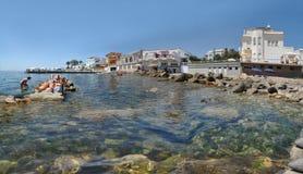 Vue panoramique de Santa Marinella Images libres de droits