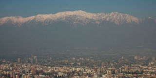 Vue panoramique de Santiago de Chili Image libre de droits