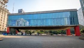 Vue panoramique de sao Paulo Museum de MASP d'art - Sao Paulo, Brésil photographie stock libre de droits