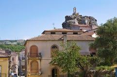 Vue panoramique de Satriano di Lucania l'Italie Photos stock