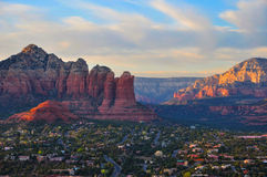 Vue panoramique de Sedona Arizona Photos stock