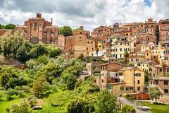 Vue panoramique de Sienne, Italie photographie stock libre de droits