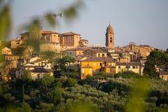 Vue panoramique de Sienne, Toscane, Italie Photographie stock