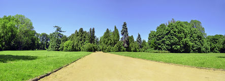 Vue panoramique de stationnement photos stock