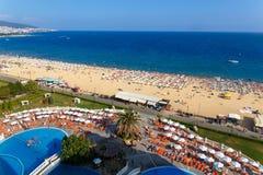Vue panoramique de Sunny Beach Photographie stock libre de droits