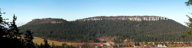 Vue panoramique de Szczeliniec Photographie stock libre de droits