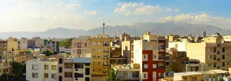 Vue panoramique de Téhéran l'iran Photos stock