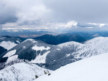 Vue panoramique de Tatry Nizne Photographie stock libre de droits