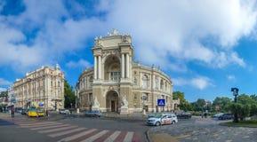 Vue panoramique de théâtre d'Odessa Opera photo libre de droits