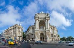 Vue panoramique de théâtre d'Odessa Opera photographie stock libre de droits
