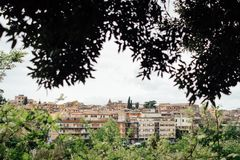 Vue panoramique de Tivoli, Latium, Italie photographie stock