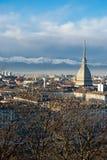 Vue panoramique de Torino (Turin), Italie Image libre de droits