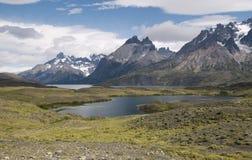 Vue panoramique de Torres Del Paine National Park, Patagonia images libres de droits