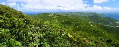 Vue panoramique de Tortola photographie stock