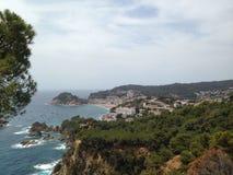 Vue panoramique de Tossa de Mar Photo libre de droits